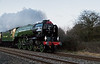 60163 Tornado pulling The Red Rose through Standish Junction on Valentine's Day 2016