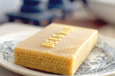 Beeswax Bar on a Plate