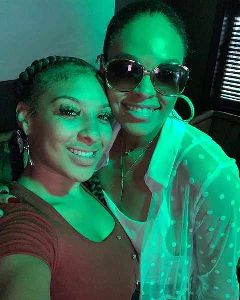 Sinnamen and Demetria McKinney at BQE Sunday Brunch - BQE Lounge - September 29, 2019