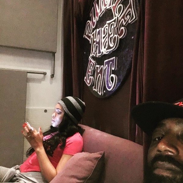 Demetria McKinney and Carlos working on the D4 Project - April 28, 2016