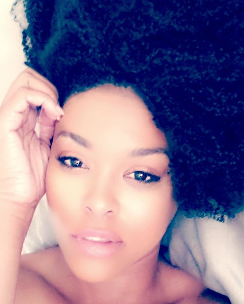 Demetria McKinney laid up on a lazy afternoon in Vancouver...
