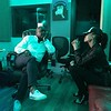 Oh so focused while in The Purple Room with Travis Cherry and my team. This is Demetria's manager Bobby and they are thinking of a master plan for this music! xo!