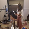 Even a bit under the weather, the #work never stops.....and Demetria McKinney love it!