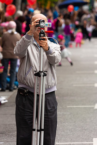 Videographer, Bunnies and Bonnets Parade, Campbell, California, 2010