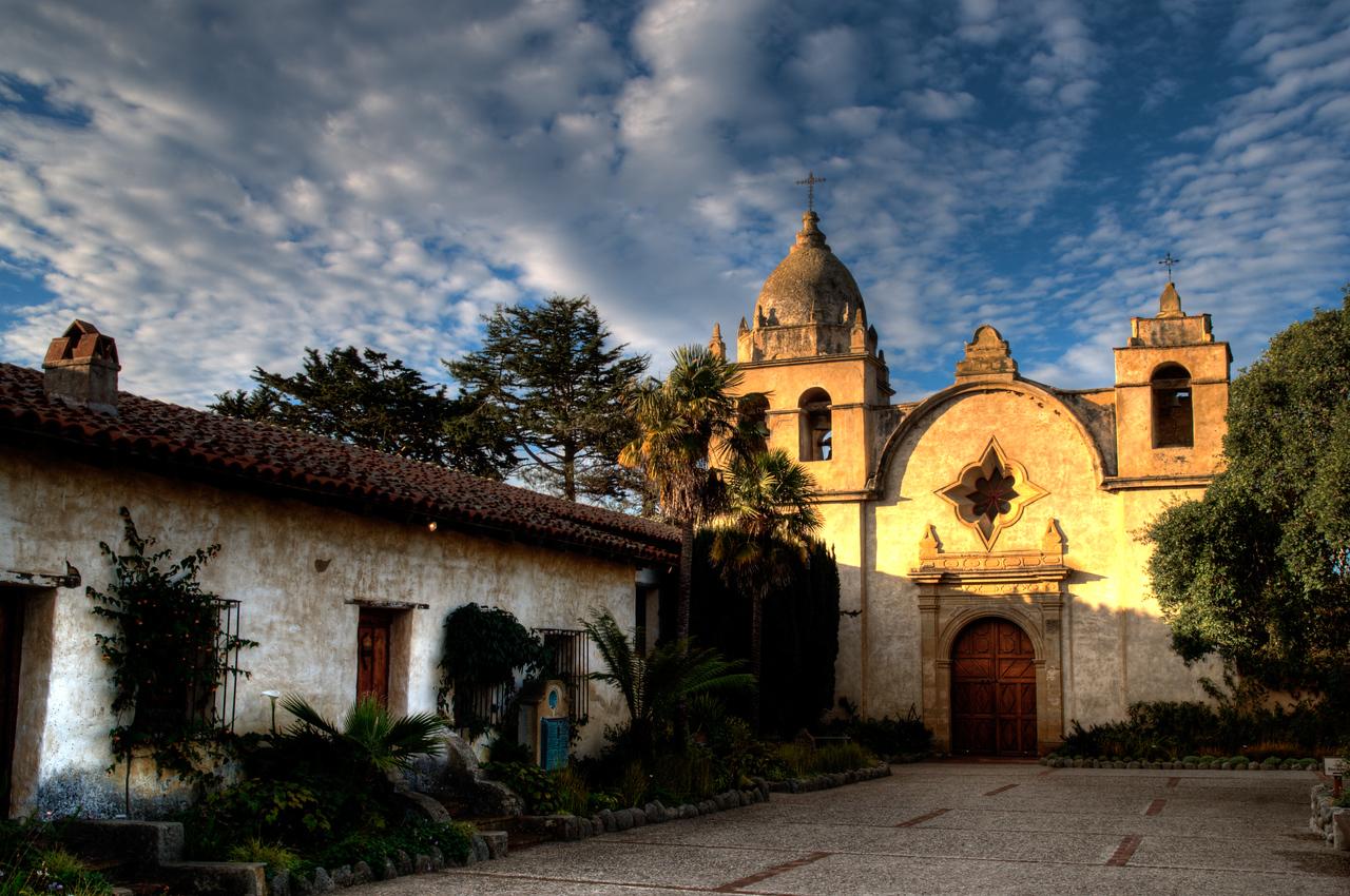 Day #11 - San Carlos Borromeo de Carmelo Mission - Carmel, CA<br /> <br /> HDR treatment using 3 exposures (-2EV, 0EV, +2EV)