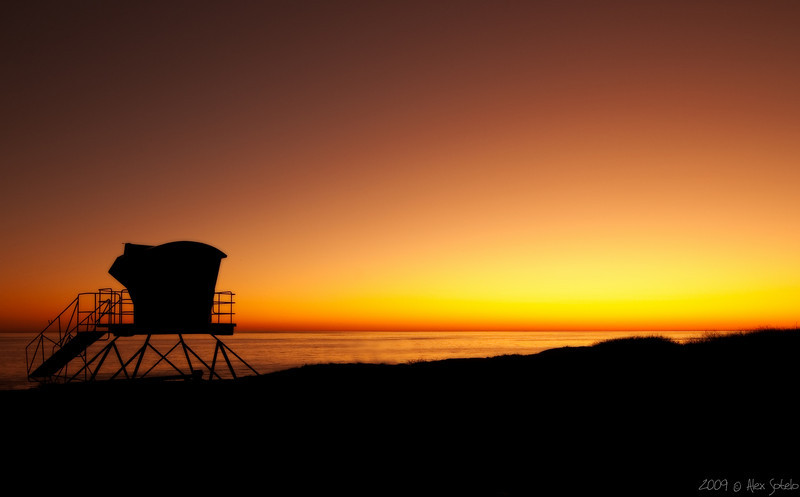 Just after sunset at Leo Carillo state beach.