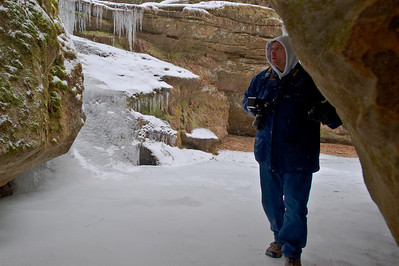 On a below zero day in the Hocking Hills.
