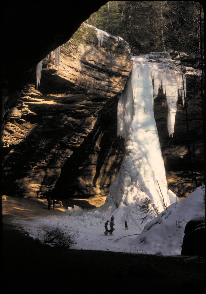 Ash Cave Ice February 1977.