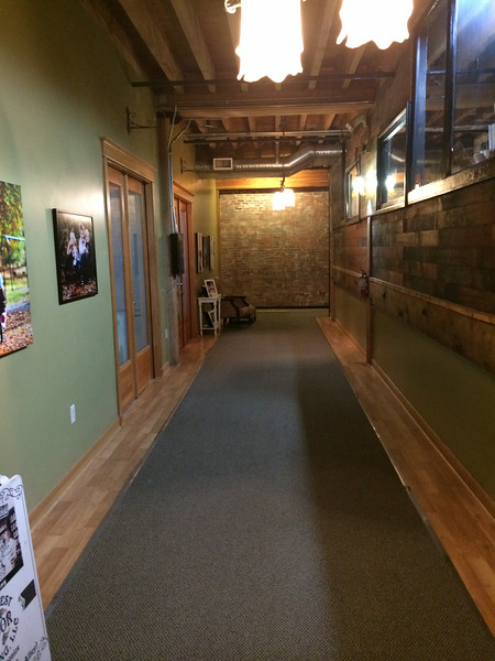 Hallway into Kelly Hodges Studio at the Passages Building in Tacoma