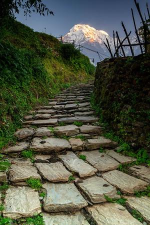 Ancient Stairs Towards Annapurna, Nepal