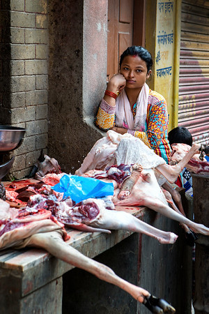 Butcher's Shop, Kathmandu