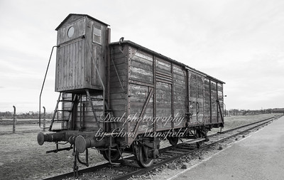 Old truck of the type used to transport prisoners to Birkenau