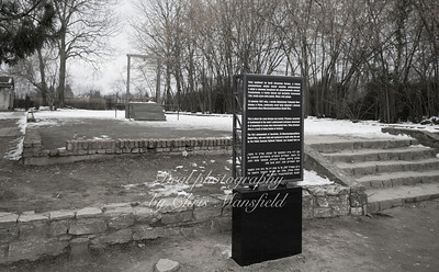 This is the spot where the Auschwitz camp commander was hung