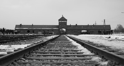 The railway track that was the end of the line inside Birkenau