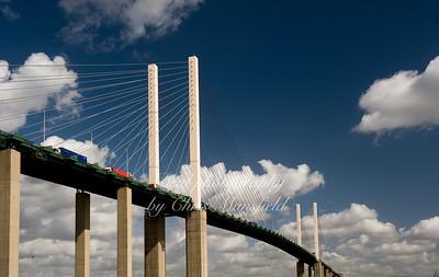 Aug' 29th 2009. QE2 Bridge Dartford