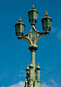 Westminster bridge lights
