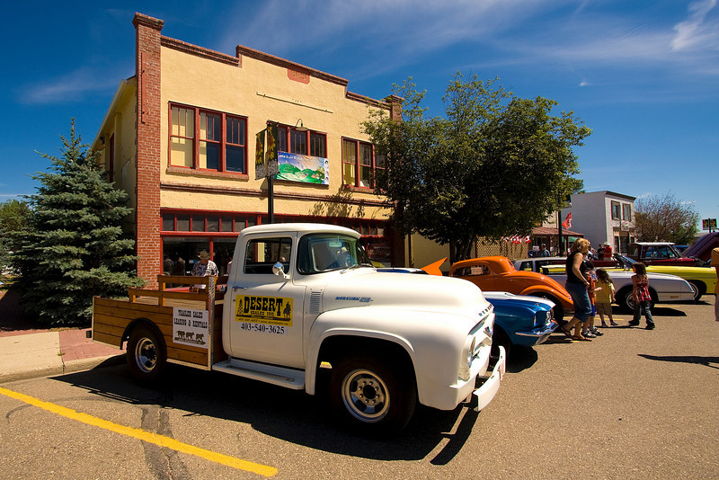 Car show in Irricana, Alberta