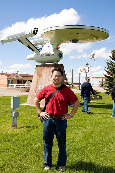 Cly in Vulcan, Alberta on the 2008 Spock Days/Galaxyfest weekend.