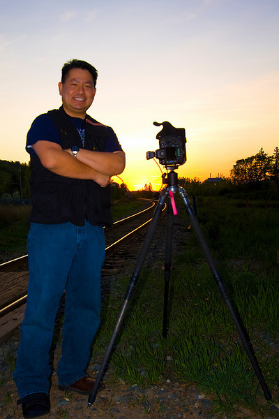 Cly by the train tracks at Edworthy Park. 