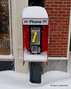 A pay phone along Main St