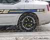 The police decided they needed some extra traction on their cars today
