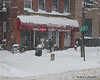 Most of the restaurants in Keene were still open even though most stores closed early