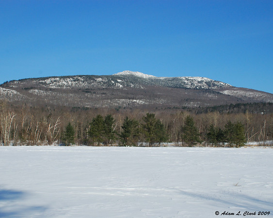 01.18.2009<br /> <br /> Mt. Monadnock from the edge of a field on the Mountain Road in Jaffrey, NH.