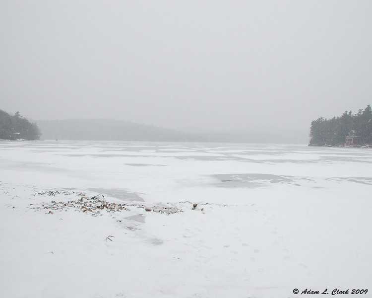 12.31.2009<br /> <br /> Didn't take long for visibilty to go down on Silver Lake once the snow started