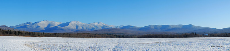 12.25.2011<br /> <br /> Merry Christmas.  This is a view of the Presidential Range from Rt 115A in Jefferson, NH