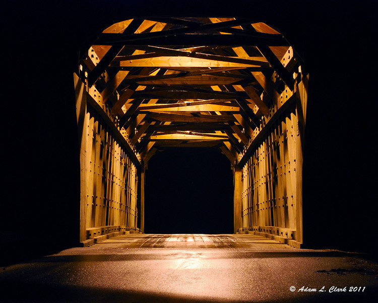 11.29.2011<br /> <br /> Corvin Covered Bridge in Newport, NH at night