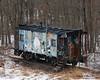 12.29.2013<br /> <br /> This small little caboose on it's own portion of tracks sits just outside a rail yard.  The story I was told is that an older man use to bring his handicapped grandson (who loved trains) here to watch them enter and exit the yard