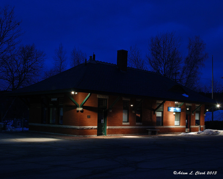 02.21.2013<br /> <br /> An old train depot in Newport, NH repurposed as a day care