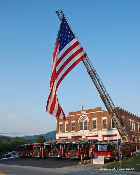 09.11.2013<br /> <br /> Claremont, NH Fire Dept honors the fallen outside their station