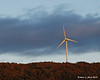 09.27.2013<br /> <br /> One of the windmills spinning up on the ridge in Lempster, NH