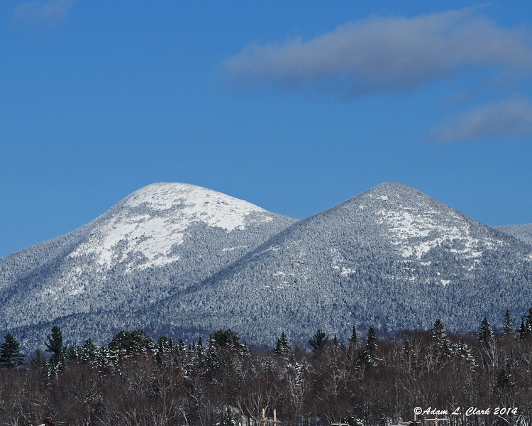 11.29.2014 <br><br>On the way back from dropping off the snowmobiles, the Percy Peaks were in clear view from Groveton