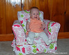 10.31.2014 <br><br>Liliana sits up in her chair for her 6 month photos