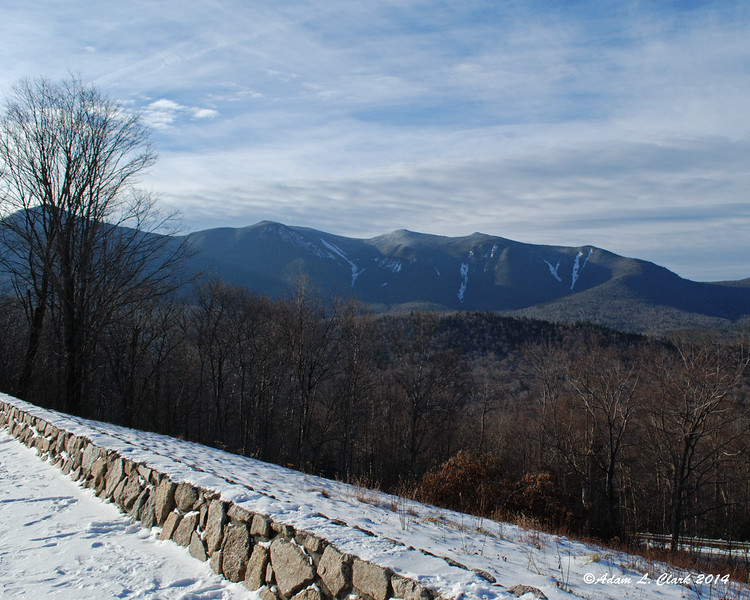 11.23.2014 <br><br>This was the view of the Osceolas from the parking lot where I started yesterday's hike