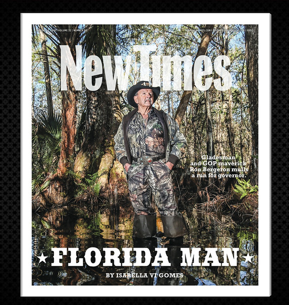 """""""Alligator Ron"""" Bergeron, a fifth generation Floridian has spent a lifetime advocating for the Everglades, now he mulls a run for governor. <br /> Photo by CandaceWest.com"""