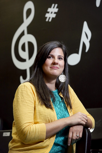 Photo / Candace West, for the South Florida Sun Sentinel.<br /> January 17, 2017,<br /> Mrs.Marie Cowley,<br /> ChoralDirector<br /> PK Music Teacher,<br />  and Spring Musical Director at <br /> St. Marks's Episcopal School.