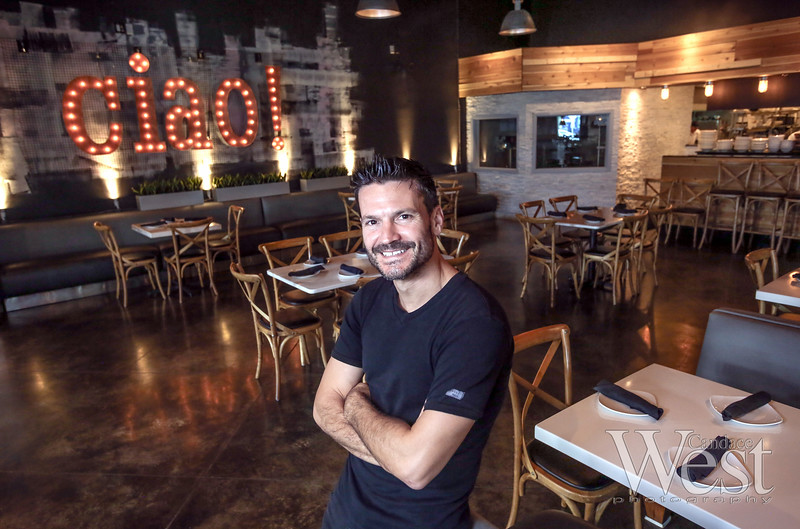 Photo by CandaceWest.com,<br /> George Pappas, co-owner of Ciao Cucina Bar,<br /> September 8, 2016<br /> Ciao Cucina Bar<br /> 4443 Lyons Rd<br /> Coconut Creek, FL 33073