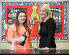Photo by CandaceWest.com,<br /> December 20, 2016<br /> Cardinal Gibbons High School Chemistry teacher Susan Quailey and her former student Amanda Morris in the lab.