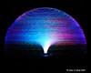 LED fiber optic light spinning