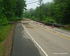 Route 10 in Gilsum - Between Eaton Hill Rd and Riverside Rd<br /> Washout on both sides of the road with cracks and some settling in the remaining piece of road