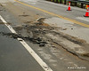 Route 10 in Gilsum - Between Eaton Hill Rd and Riverside Rd<br /> These cracks weren't in the road before the storm