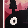 Framed screenprint, My Neighbor Totoro by Olly Moss - closeup