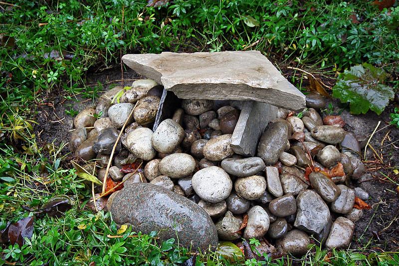 Backyard cairn and dolmen