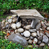 Backyard cairn and dolmen