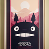 Framed screenprint, My Neighbor Totoro by Olly Moss