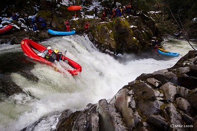 "Todd Wells and Dan Laham dropping ""Big Brother"" in a raft on a not so busy March afternoon."