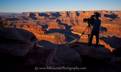 Anson Fogel at Deadhorse Point, Utah. Forge Motion Pictures.